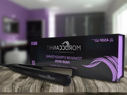 Moroccan Hit 1/1.75-Inch Titanium Flat Iron Hair Straightene