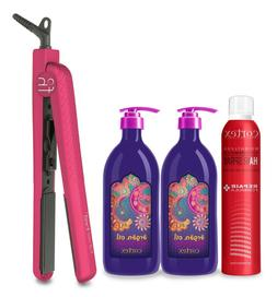 "Fahrenheit 1.25"" Ceramic Flat Iron Bundle"