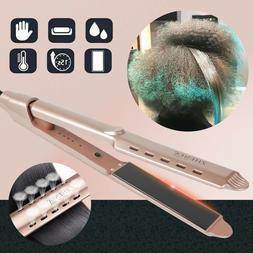 2-in-1 Hair Straightener Ceramic Tourmaline Ionic Flat Iron