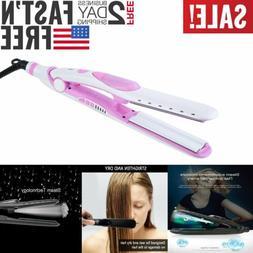 2 in 1 Professional Steam Hair Straightener Straightening Ce