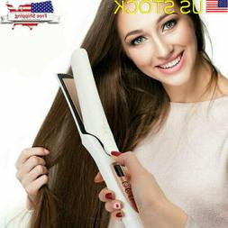 360° 2 In 1 Dry/Wet Hair Straightener Flat Iron Curler Pro