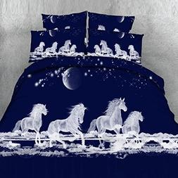 Beddinginn 3d Unicorn Duvet Cover Set 800-Thread-Count Deep