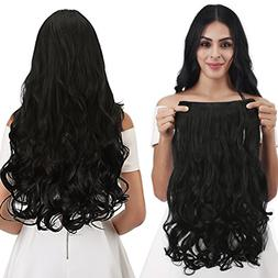 """REECHO 14"""" 1-Pack 3/4 Full Head Curly Wavy Clips in on Synth"""