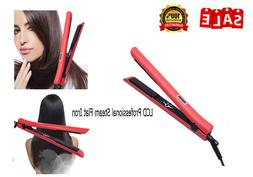 450℉ Hair Straightener Flat Iron with LCD Display Adjustab