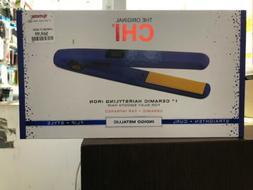 "7/8"" Digital Chi Flat Iron Limited Edition Indigo Rubberiz"