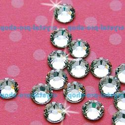 720 pieces 3mm ss10 Crystals Clear Hot fix Iron on Flat Back