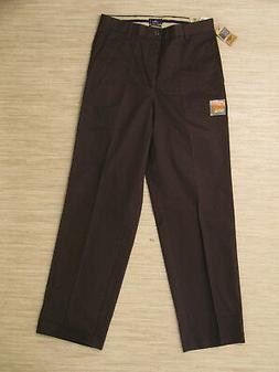 Dockers D3 Brown Khaki Pants Men's Size 30x32 Flat Front Zip