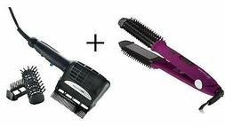Hot Brush and Ceramic Flat Iron, Purple and Conair Tourmalin