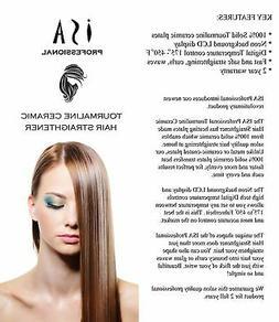 ISA Professional Digital LCD Ceramic Flat Iron Hair Straight