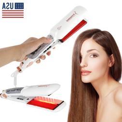 Professional Infrared Ceramic Salon flat Iron Steam Hair str
