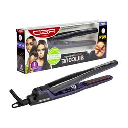 """RED BY KISS SILICONE STYLER FLAT IRON 1/2"""" 450°F HAIR STRAI"""