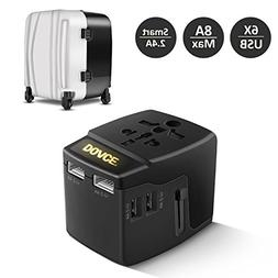 DOACE A6 Universal Travel Power Adapter 8A with 6 USB Chargi