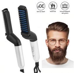 Beard Straightener Multifunctional Flat Iron Hair Comb Curle