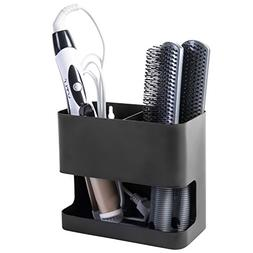 2 Slot Black Metal Wall Mountable Hair Tool Accessories Orga