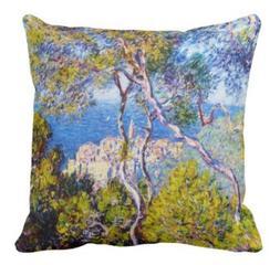 Bordighera, 1884 Claude Monet cool, old, master, pillow case