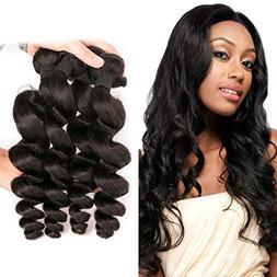 Brazilian Loose deep Wave Weave 4 Bundles Human Hair Wet and
