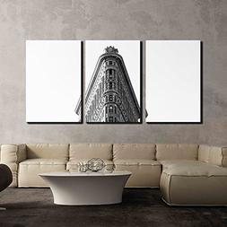 wall26 - 3 Piece Canvas Wall Art - Black and White Photo of