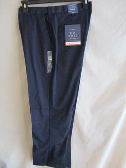 Croft & Barrow Cotton Blnd Navy NO Iron Stretch Flat Dress K