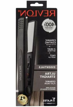 "Revlon Essentials Ultra Straight 1"" Flat Iron -400°F High"