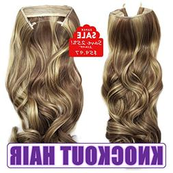 Knockout Hair 20-Inch Fiber Wavy Hair Extensions, 150 Grams,