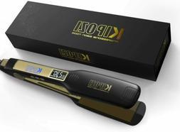 KIPOZI Flat Iron Pro Hair Straightener 1.75 Inch Titanium Pl