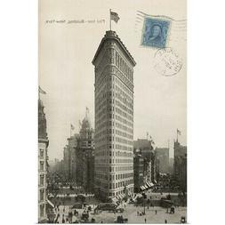 Flat Iron 1909 Poster Art Print, New York City Home Decor