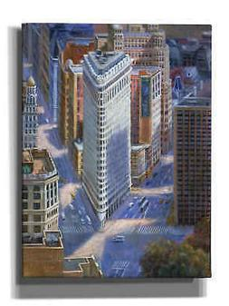 Epic Graffiti 'FLAT IRON' by Bonnec Brothers, Giclee Canvas