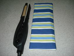 Flat Iron / Curling Iron Fabric Case/ Cover - Beach Blue - G