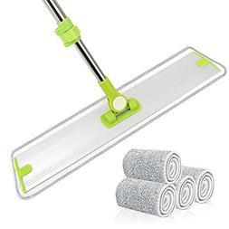 """24"""" Microfiber Flat Mop Yoleo Heavy Duty Floor Mop with Alum"""