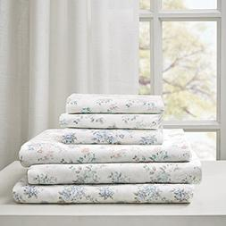 Floral Full Bed Sheets, Cottage/Country 100% Cotton Bed Shee