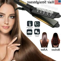 Four Gear Ceramic Flat Iron Hair Straightener Tourmaline Ion
