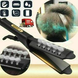 Four Gear Ceramic Tourmaline Ionic Flat Iron Hot Hair Straig