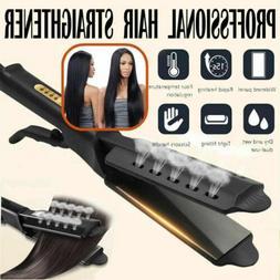 Four Gear Ceramic Tourmaline Ionic Flat Iron Hot Hair Straig