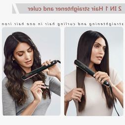 Hair Straightener and Curler,  Professional Ceramic 2 In 1 F