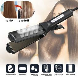 Scissors Handle Ceramic Tourmaline Ionic Flat Iron Hot Hair