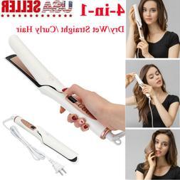 Hair Straightener Curler Ceramic Flat iron Curling Roller An
