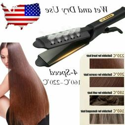 Hair Straightener Flat Iron Hot 4 Gear Tourmaline Ionic Glid