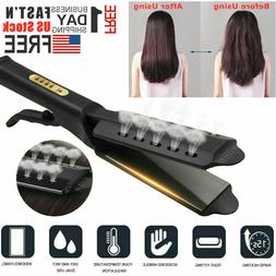 Hair Straightener Flat Iron Hot Four Gear Steam Ceramic Tour