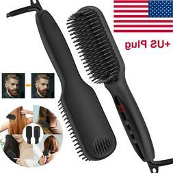 Hair Straightener Flat Iron Straightening Brush Hot Heating