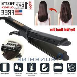 Hair Straightener Four Gear Ceramic Tourmaline Ionic Flat Ir