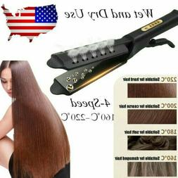 Hair Straightener Glider Flat Iron Hot Four Gear Tourmaline