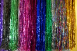 Hair Tinsel - SALON PACK - 7 packs of 100 Strands Mixed Colo