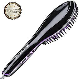 Gideon Professional Heated Hair Brush Straightener - Innovat