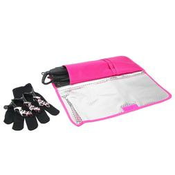 Hot Flat Iron Travel Bag Curling Styling Heat Resistant Pouc