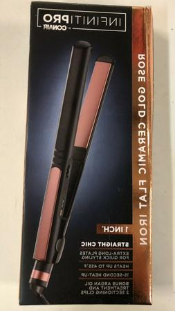 "Conair Infiniti Pro Ceramic Flat Iron Rose Gold - 1""  New in"