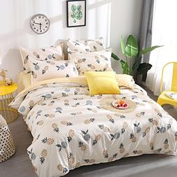 Kimko Kids Pineapple Bedding Set - Fresh Soft Bedding Collec