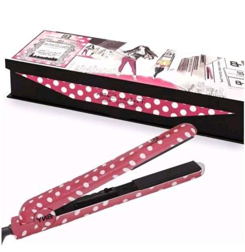 1 25 diamond flat iron pink polka