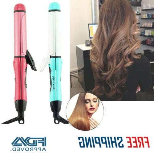 1 2in1 hair straightener curling curler flat