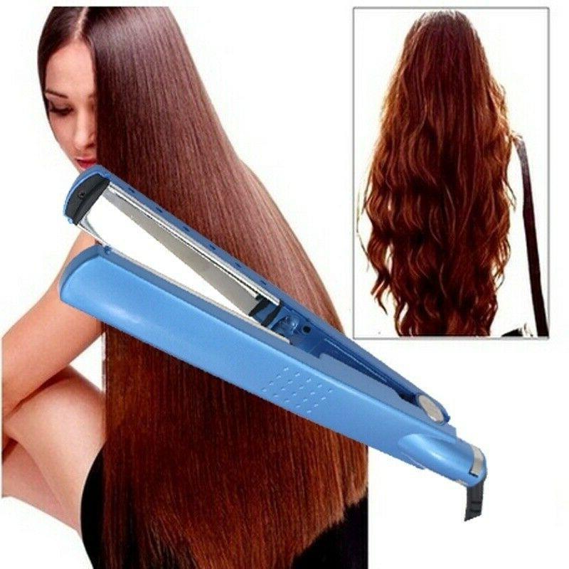 Pro Nano Titanium Plate 2 IN 1 Hair Straightener Flat Iron C