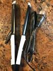 2-in-1 Ceramic Tourmaline Hair Flat Iron/Curling Iron Dual V